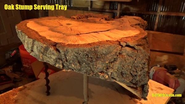 Oak Stump Serving Tray