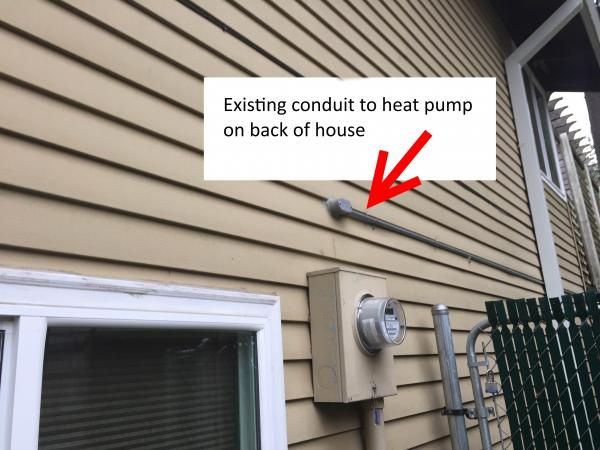 Running Conduit Through Wall Outside For Electric Car
