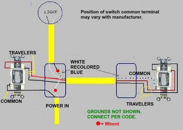3 Way Switch Working, But Not The Single Pole