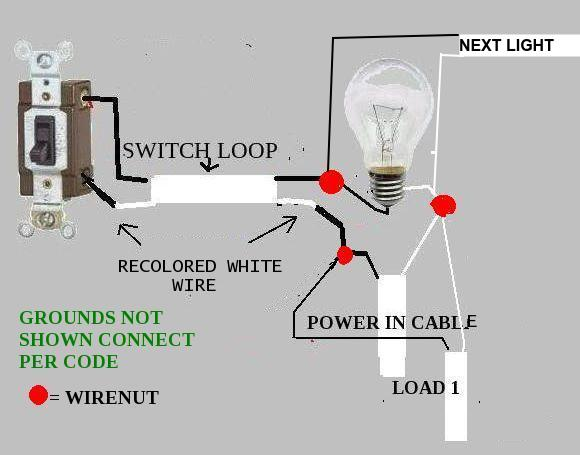 Adding Wall Switch And Another Ceiling Light (switch Loop