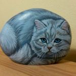 50 Best DIY Painted Rocks Animals Cats for Summer Ideas (19)