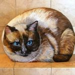 50 Best DIY Painted Rocks Animals Cats for Summer Ideas (5)