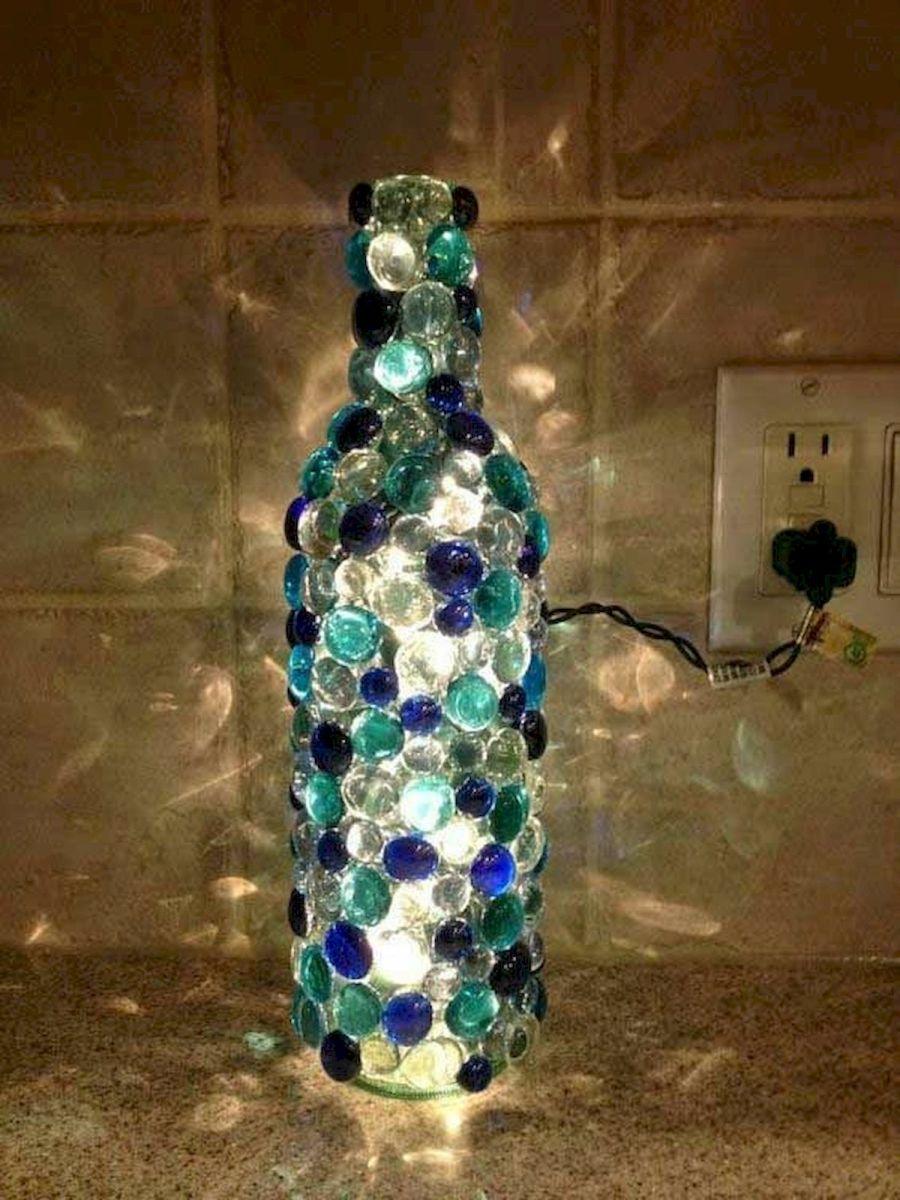 76 Best DIY Wine Bottle Craft Ideas (44)