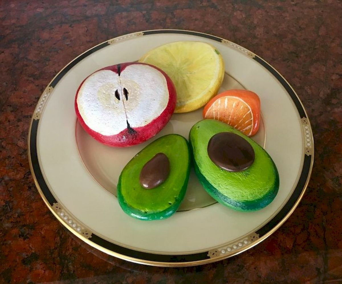40 Awesome DIY Painted Rocks Fruits Ideas (17)