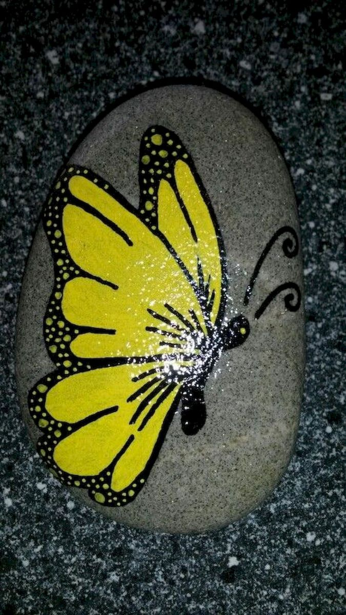 55 Cute DIY Painted Rocks Animals Butterfly Ideas (2)
