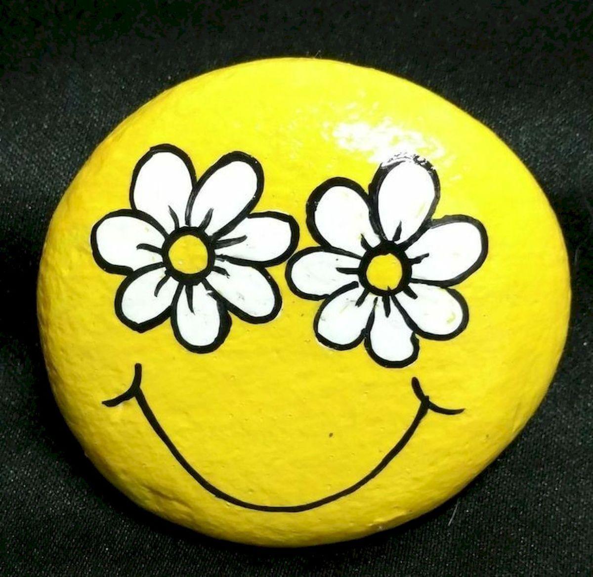 60+ Beautiful DIY Painted Rocks Flowers Ideas (58)