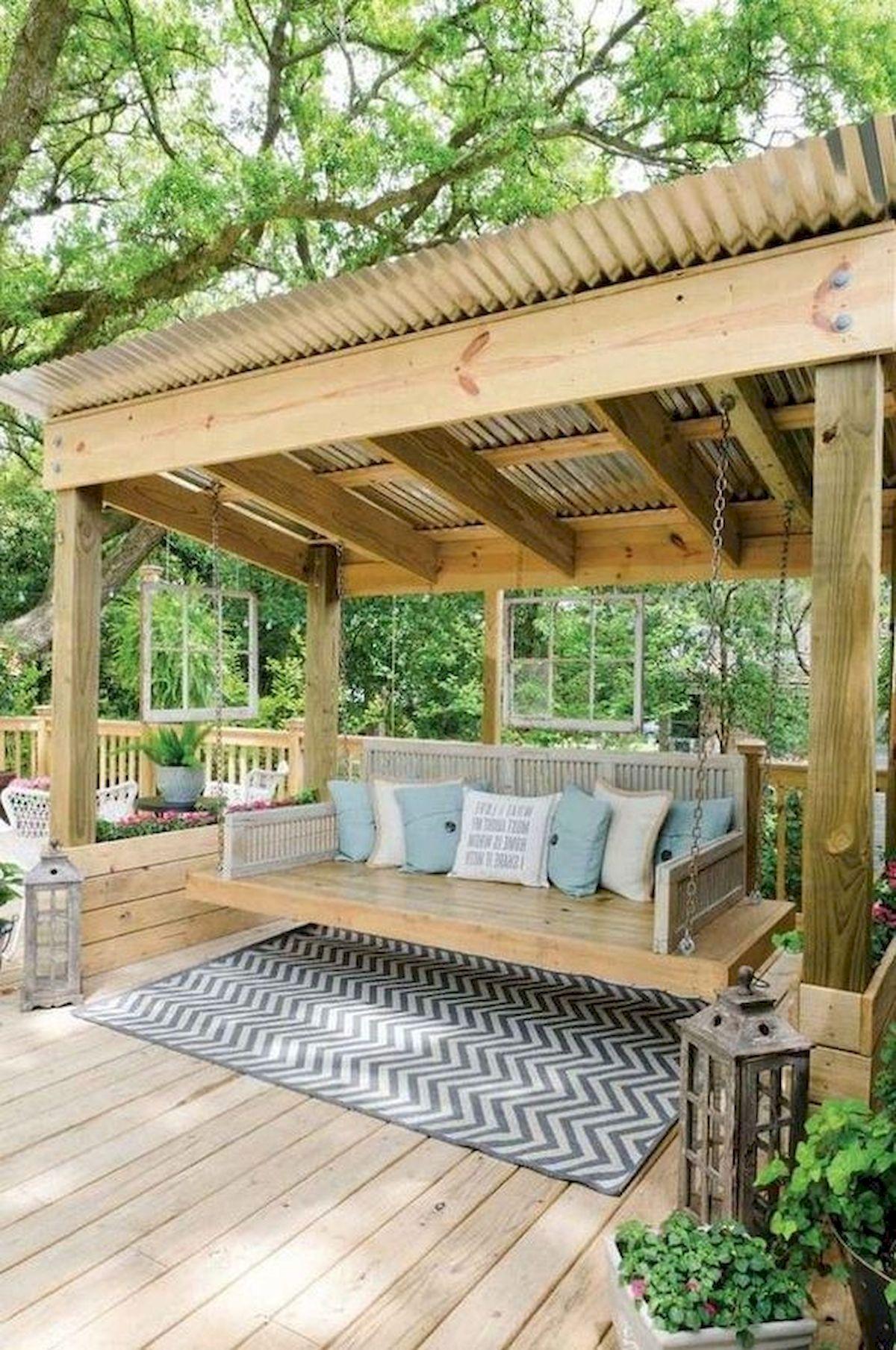 50 Best DIY Backyard Patio And Decking Design Ideas (38)