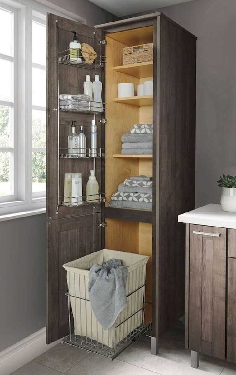 50 Best DIY Storage Design Ideas to Maximize Your Small Bathroom Space (29)