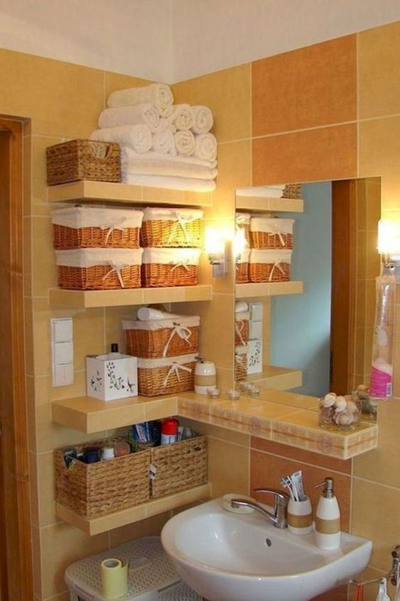 50 Best DIY Storage Design Ideas to Maximize Your Small Bathroom Space (8)
