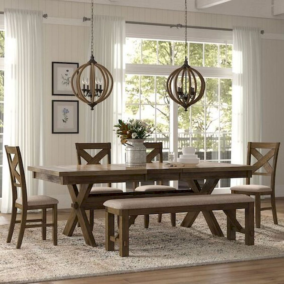 50 Nice DIY Furniture Projects for Dining Rooms Tables Design Ideas (1)