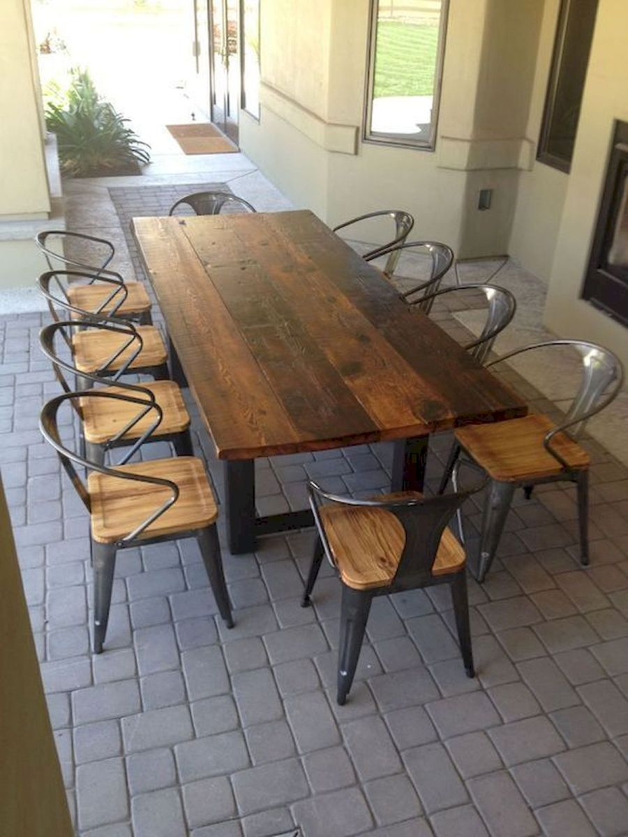 50 Nice DIY Furniture Projects for Dining Rooms Tables Design Ideas (8)