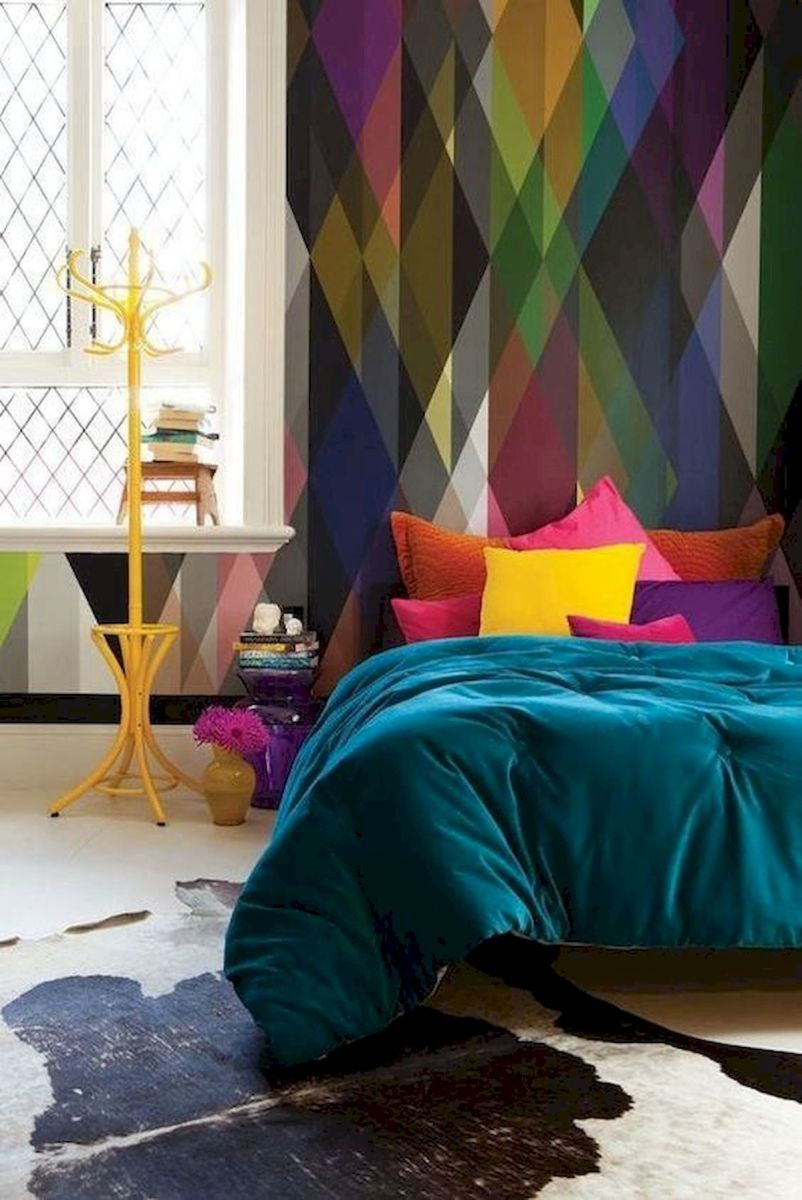 70 Beautiful DIY Colorful Bedroom Design Ideas and Remodel (58)