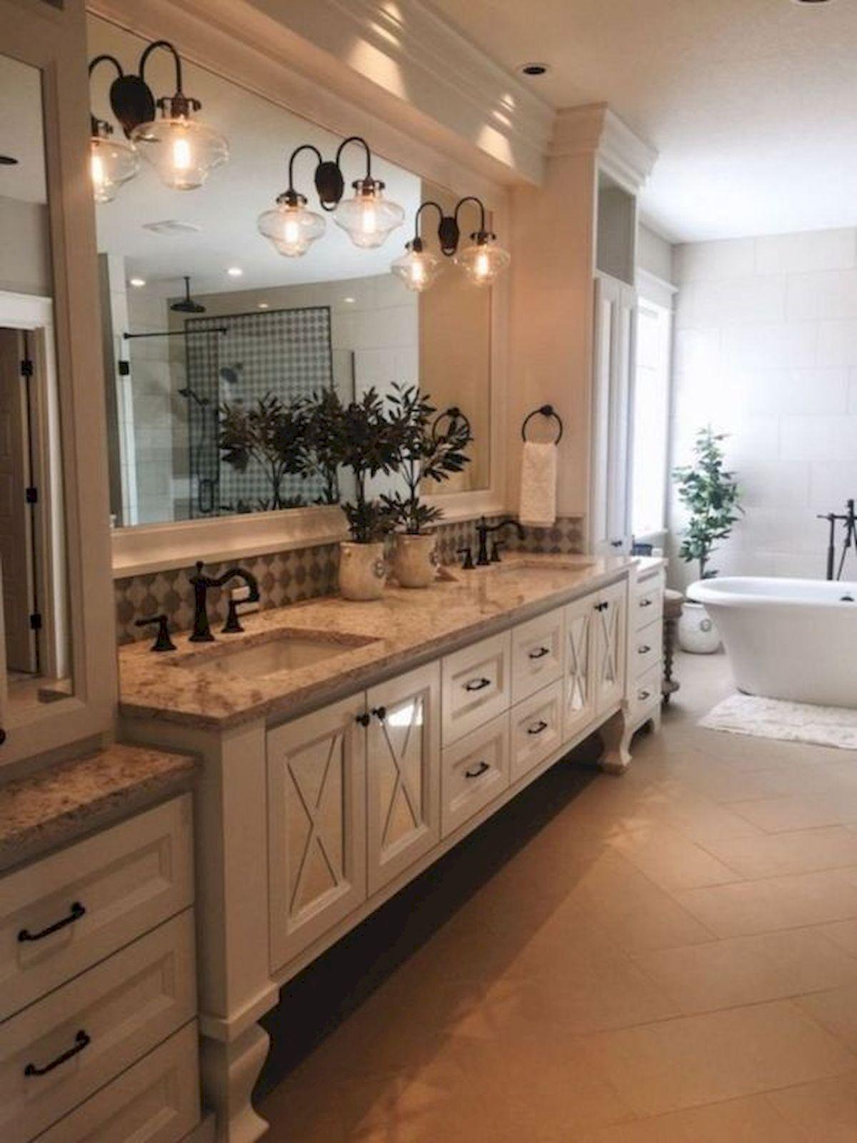 50 Fantastic DIY Modern Farmhouse Bathroom Remodel Ideas (13)