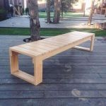 40 Awesome DIY Outdoor Bench Ideas For Backyard and Front Yard Garden (24)