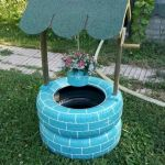 25 Creative DIY Garden Decoration Ideas Using Old Tires (25)