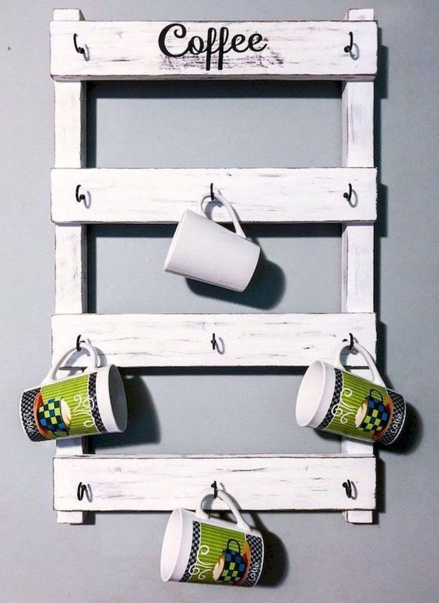 35 Easy DIY Wooden Pallet Mug Rack Ideas Everyone Can Do This (23)
