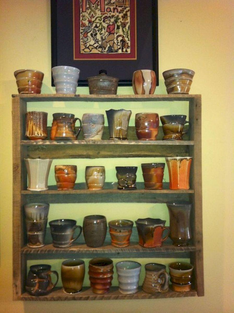 35 Easy DIY Wooden Pallet Mug Rack Ideas Everyone Can Do This (25)