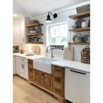 20 Beautiful Farmhouse Kitchen Backsplash Decor Ideas And Remodel (18)