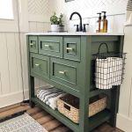20 Stunning Farmhouse Bathroom Tile Decor Ideas And Remodel (2)