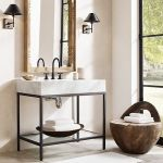 20 Stunning Farmhouse Bathroom Vanity Decor Ideas and Remodel (1)