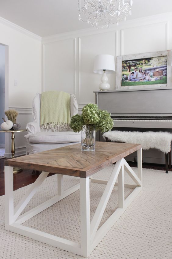 20 Stunning Farmhouse Coffee Table Decor Ideas And Remodel (3)