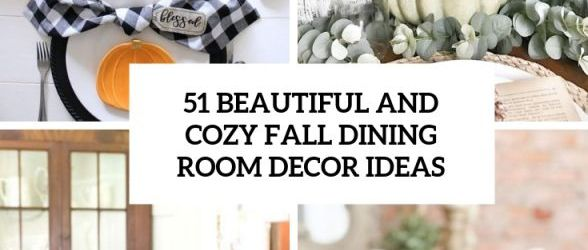 Gorgeous  fall dining table decorations