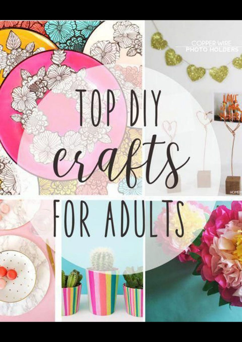 Awesome  art and craft ideas for adults at home