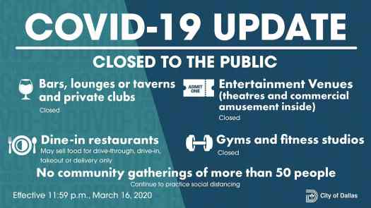 City of Dallas COVID-19 Update: March 16 1