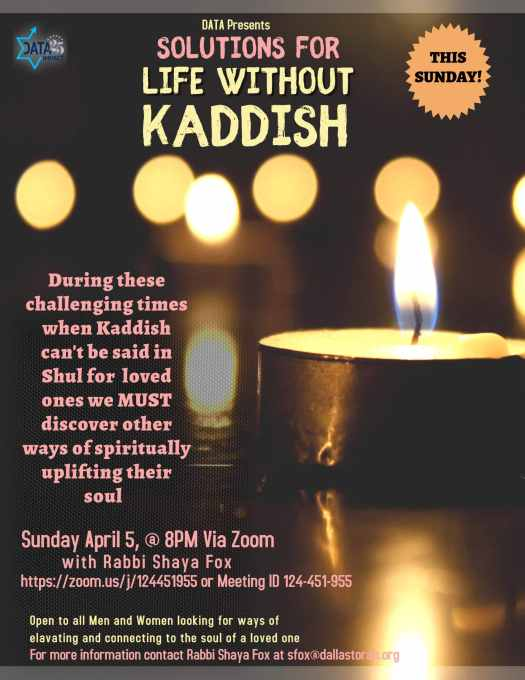 Solutions for Life Without Kaddish 1