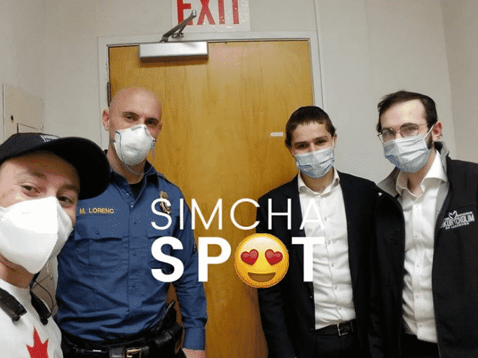 SimchaSpot Followers Take up Social Media Challenge, Thanking Police Officers for their Service 5