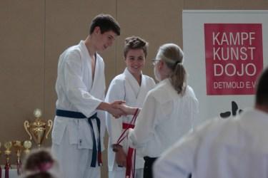 Karate Kinder und Jugendliche Turnier Detmold 2015 Siegerehrung