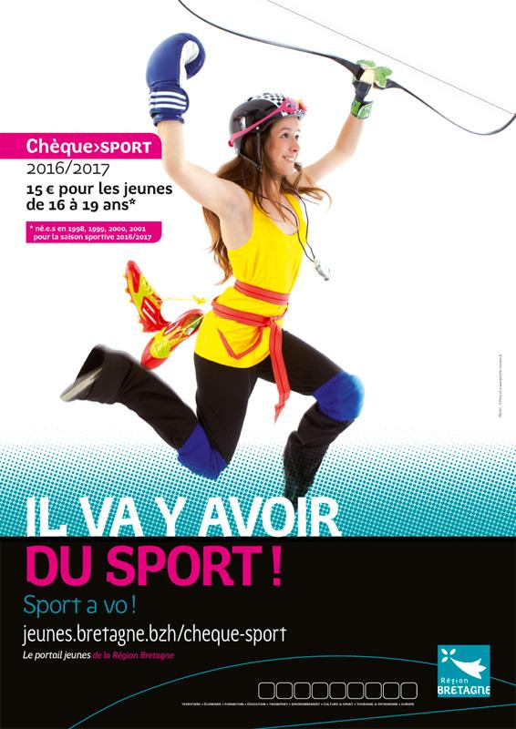 Affiche Chèque Sport 2016