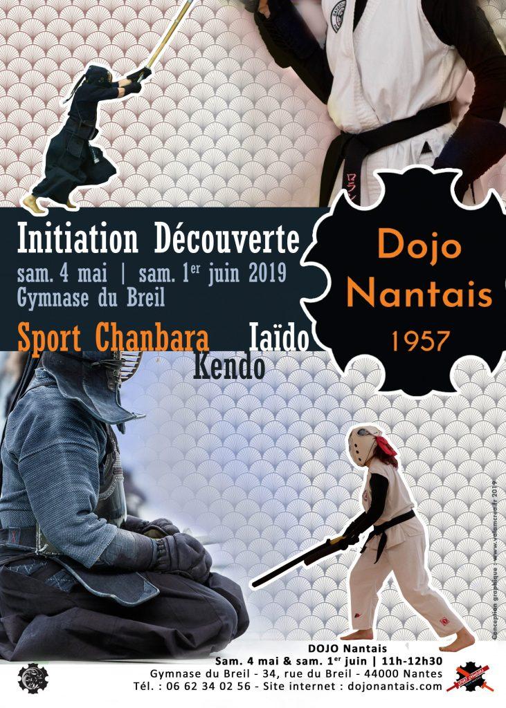 Initiation Découverte Sport Chanbara Iaïdo Kendo - Portes Ouvertes Juin 2019