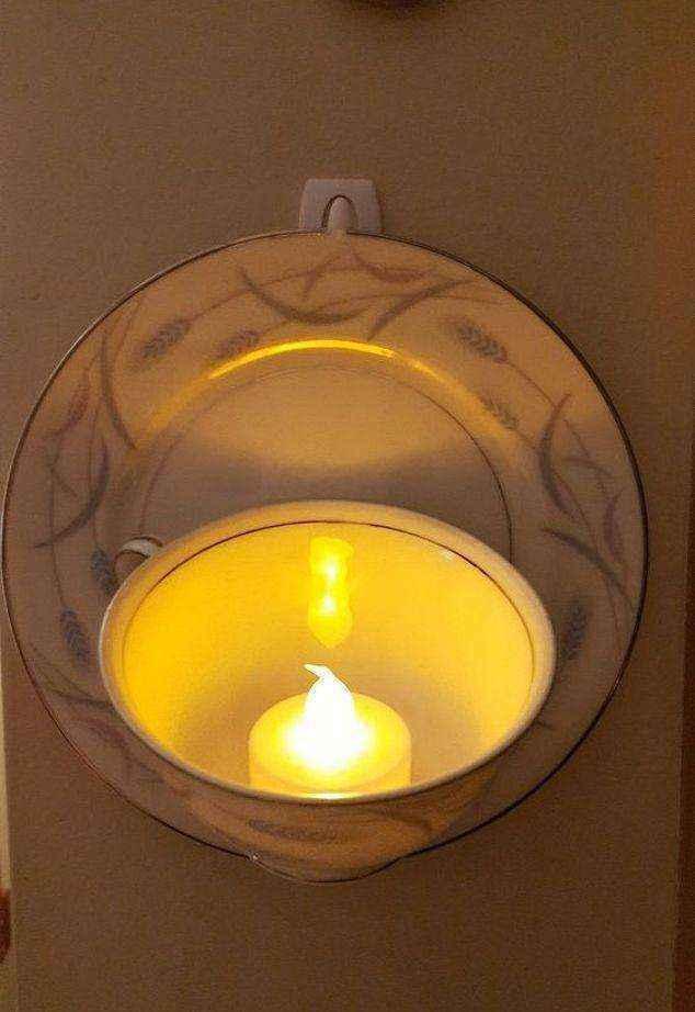 image10-2 | Оригинальный светильник из старого сервиза — теперь вы не выбросите ни одной старой чашки!