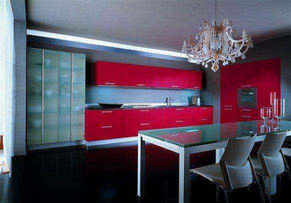 image18-14 | Красные кухни в интерьере