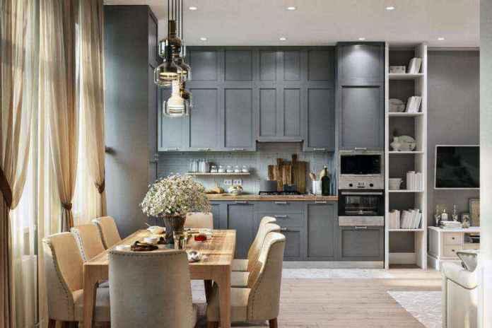 0-modern-light-scandinavian-style-interior-open-plan-concept-living-room-dining-room-kitchen-gray-beige-cabinets-tv-set-lounge-dining-table-chairs | Стильный таунхаус с дизайном в смешанном стиле в Подмосковье