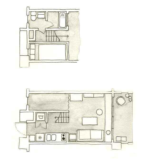 0d48cbba8fafc4818cd41b345d2960ae8a1aa72b | Умные идеи организации пространства для супер функциональной квартиры площадью 25 квадратных метров