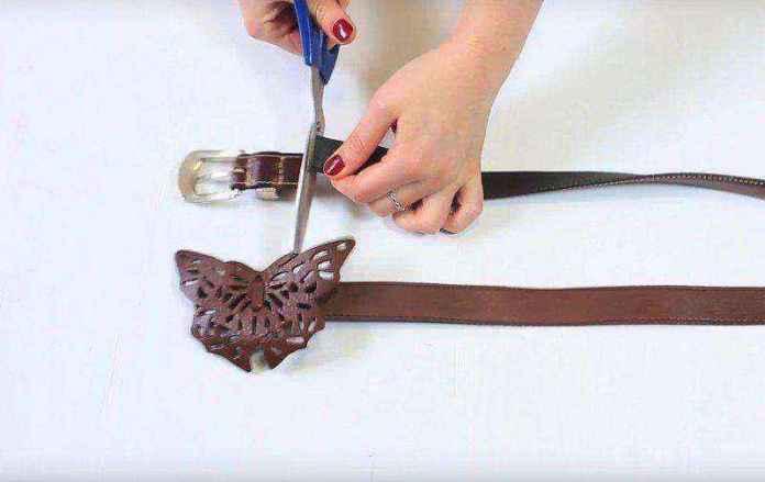 cinturon-viejo-3   Как можно использовать старые ремни для изготовления стильной полки