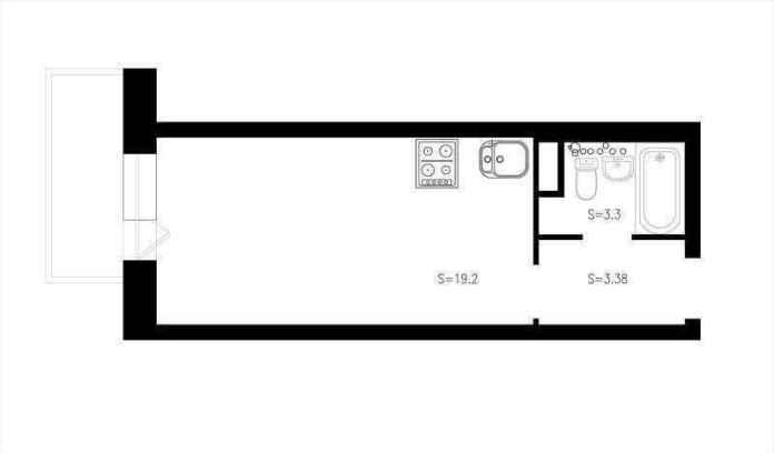 image1-72 | Как сделать уютной узкую 25-метровую квартиру-студию