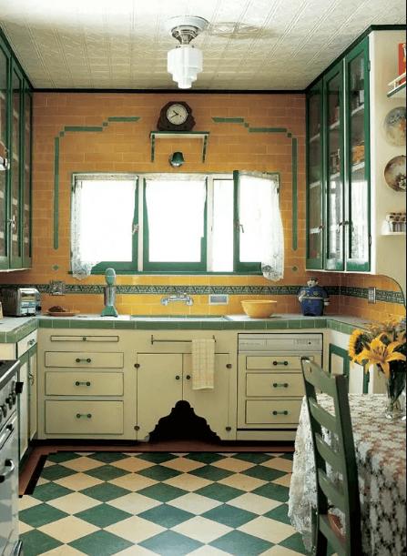 kitchen-checkered-floor | ТОП-10 инновационных экологичных напольных покрытий для вашего нового дома