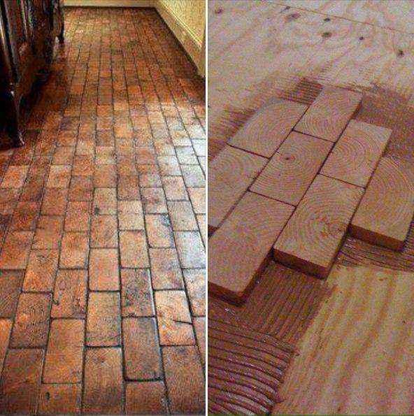 piso-madera-3 | Как сделать необычный пол из деревянных плашек с небольшим бюджетом