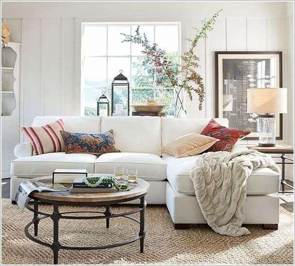 image4-75 | 10 идей как украсить гостиную белым диваном