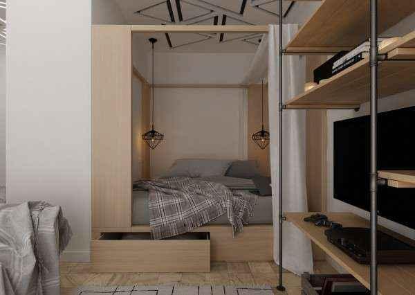 image5-55   Дизайн квартиры площадью 29 квадратных метров  в стиле минимализм