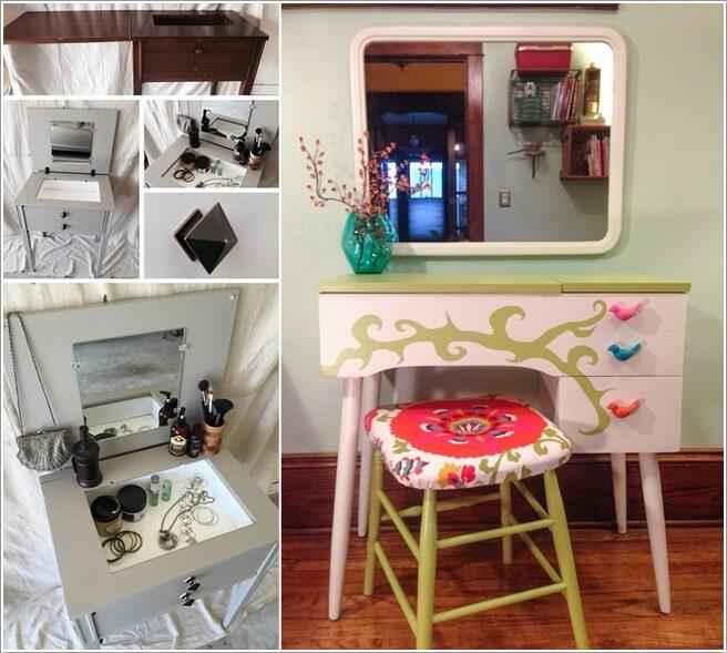 image8-3 | Что можно сделать из старого столика от швейной машинки