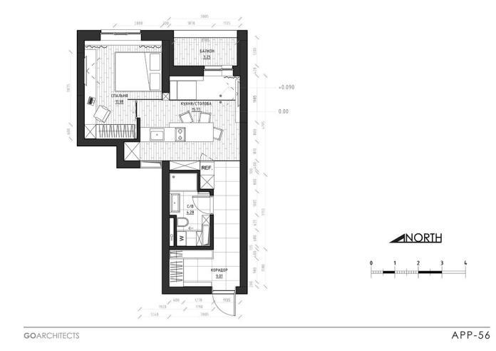 image12-4 | Дизайн интерьера небольшой квартиры для молодой пары