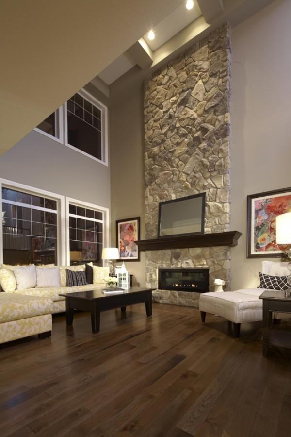 image23-1   30 идей темного деревянного пола в гостиной
