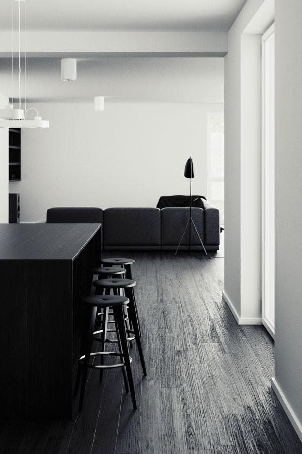image26-1   30 идей темного деревянного пола в гостиной