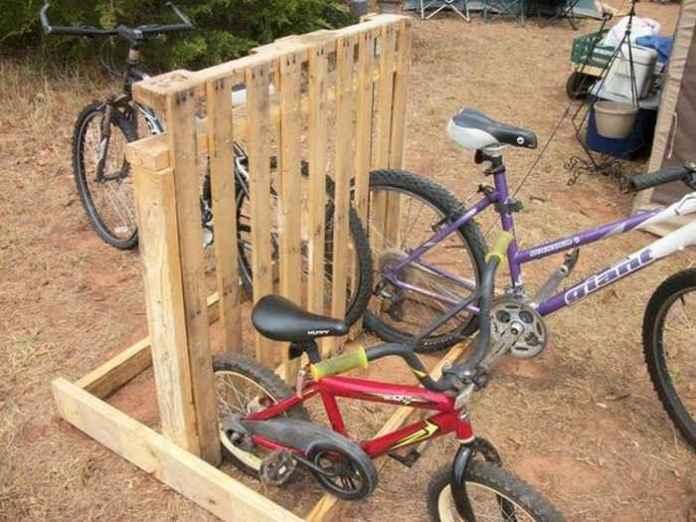 image5-26 | Как сделать стойку для велосипедов из поддонов