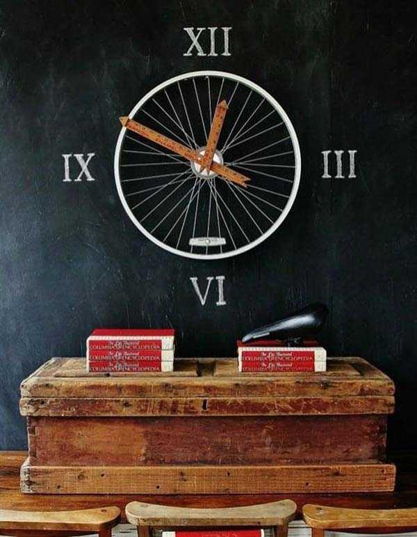 image1-1   Интересные идеи домашнего декора из старого велосипедного колеса