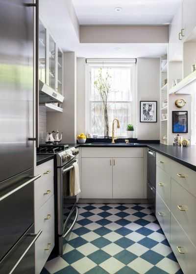 image11-14   9 примеров узких кухонь